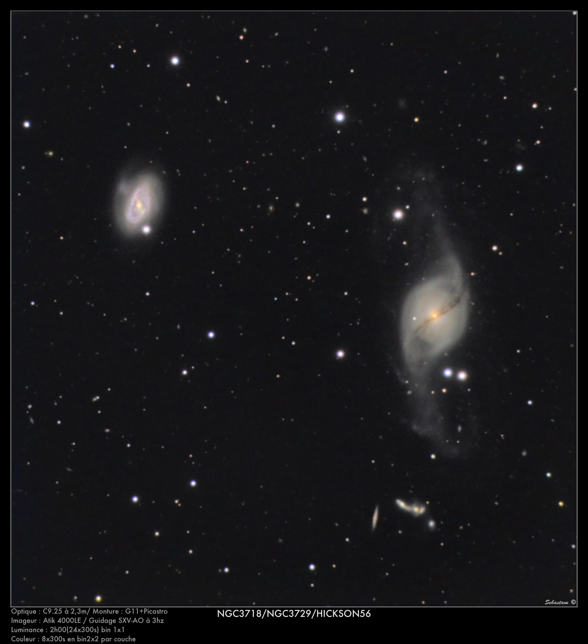 NGC3718/NGC3729/HICKSON56 du 21/02/2012