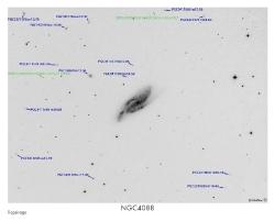 NGC4088 (ARP18) du 22/02/2009 - repérage