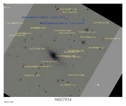 NGC7814 du 12/10/2009 - repérage
