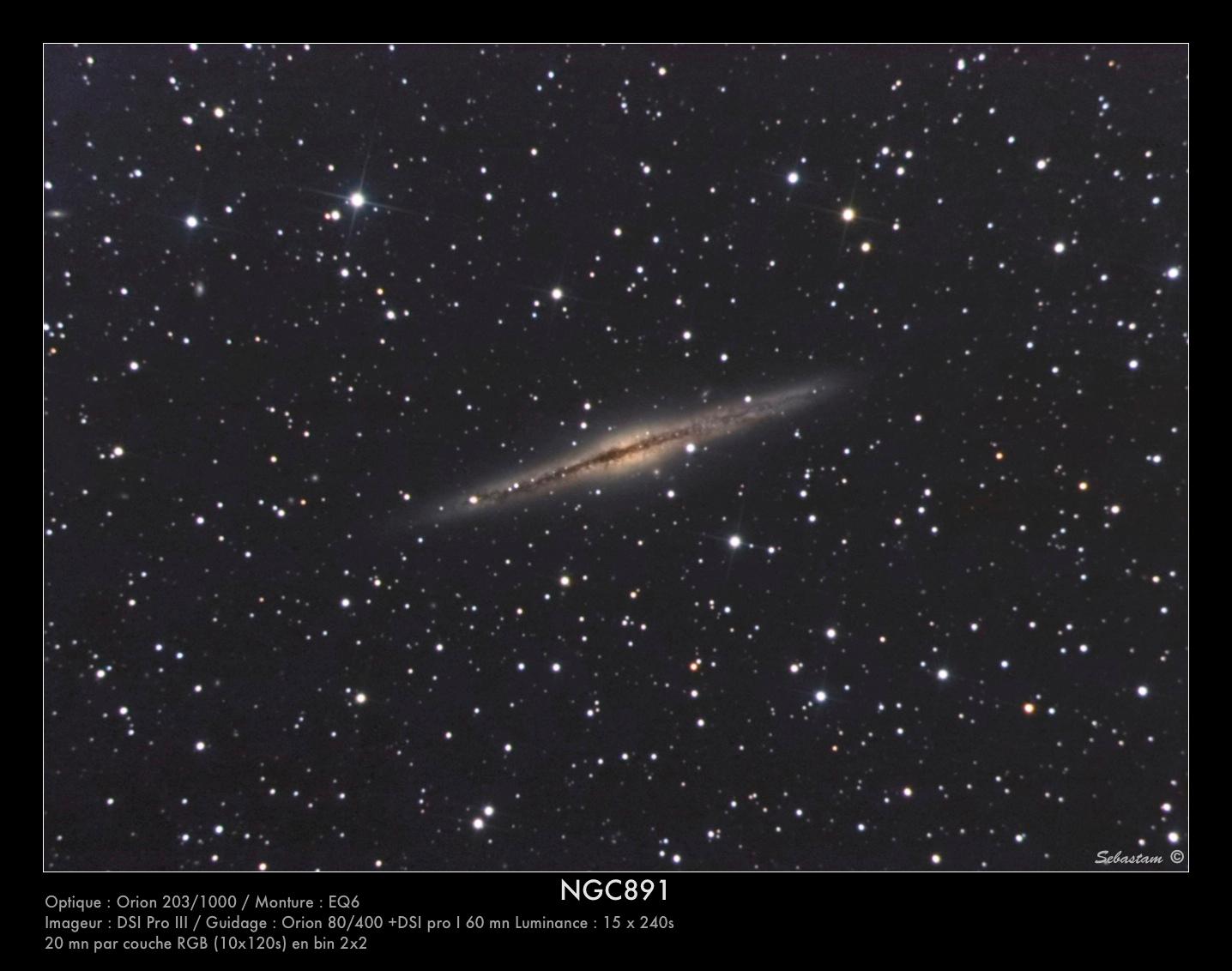 NGC891 du 22/09/2009